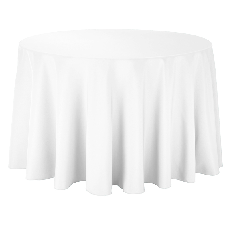 Round Table With Tablecloth.5ft Round Table With Full Drop Tablecloth