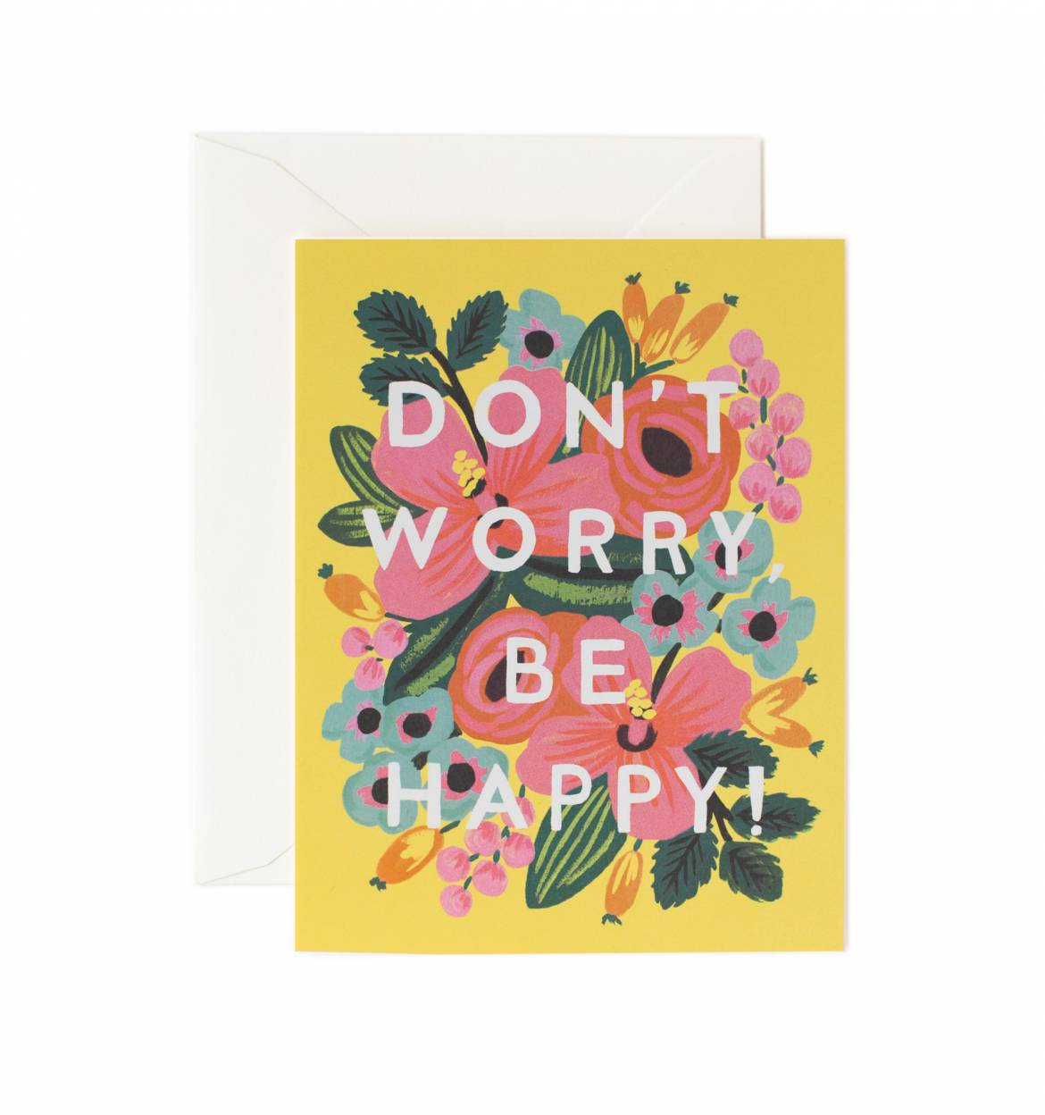 Dont Worry Be Happy Encouragement Greeting Card Sprinkie Parties