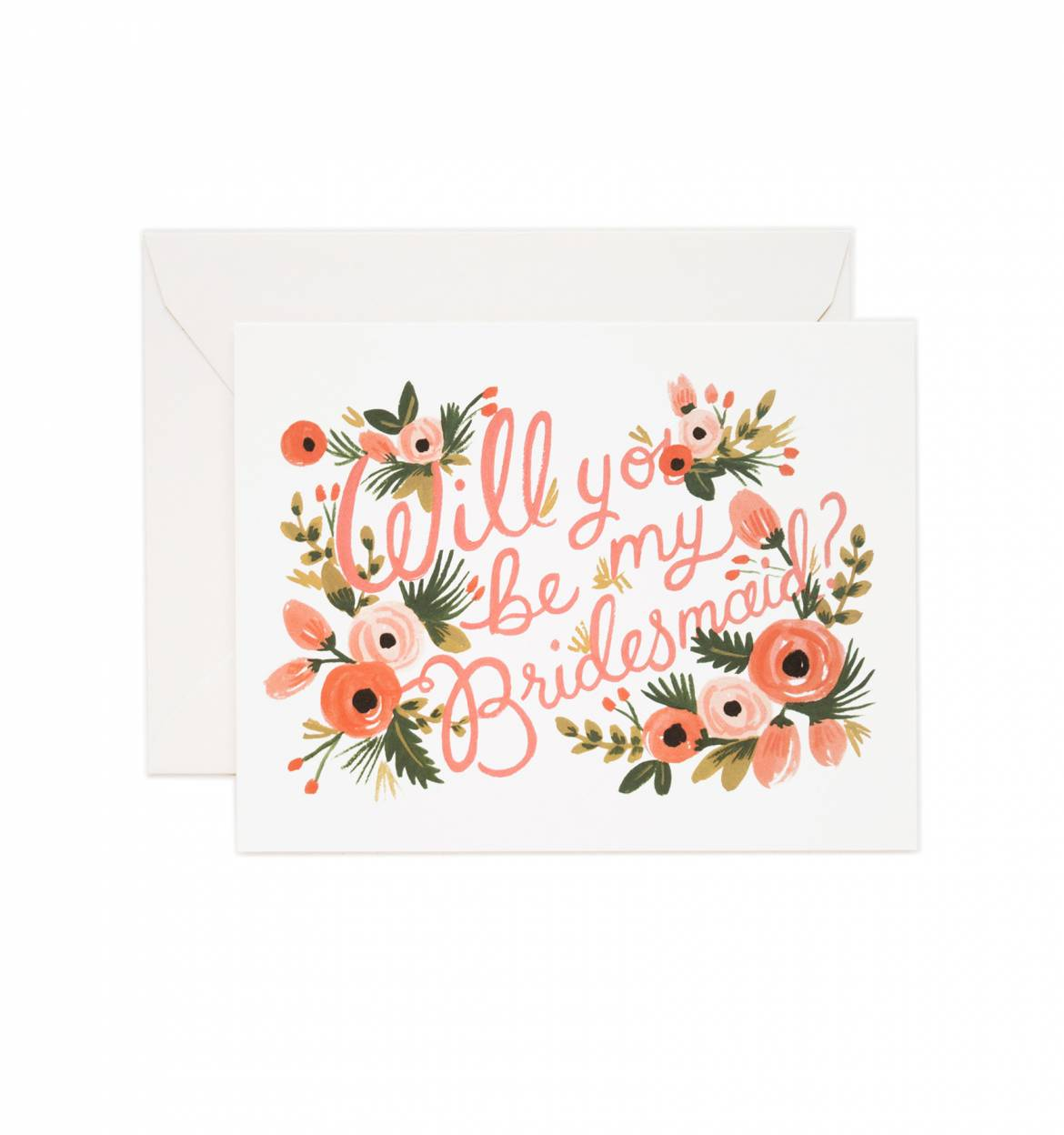 Bridesmaid Wedding Greeting Card Sprinkie Parties