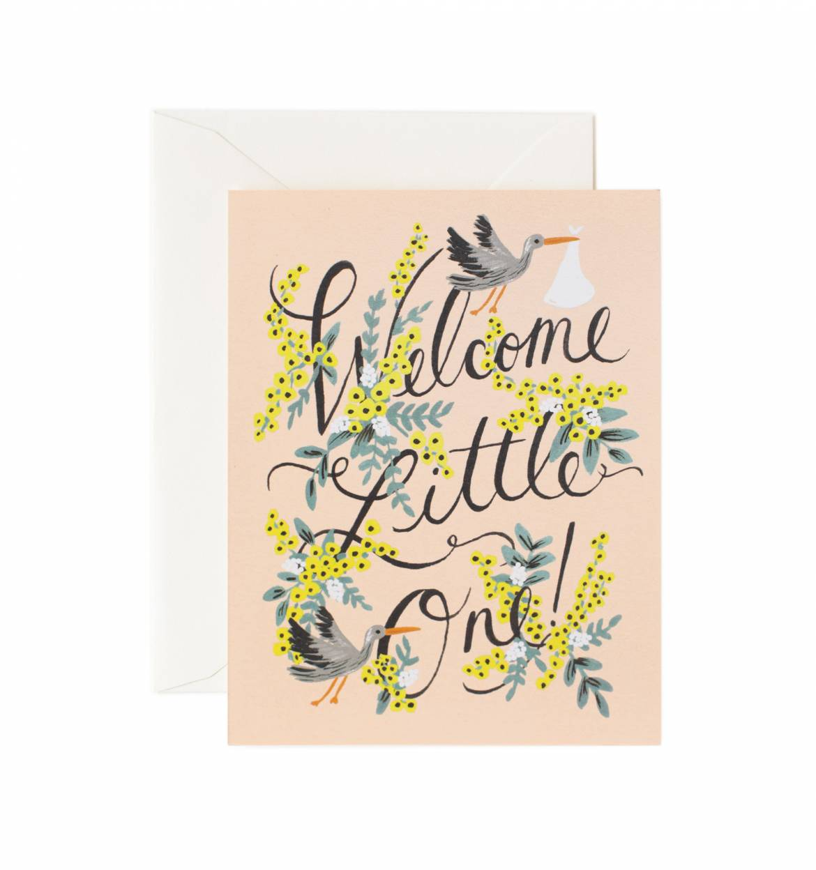 welcome little one baby greeting card sprinkie parties